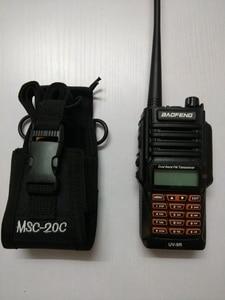 Image 3 - Walkie talkie bolsa MSC 20C bolsa de nylon titular Radio Walkie Talkie para $TERM impacto baofeng UV 9R 5S R760 9700 accesorios de walkie talkie