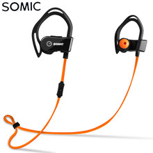 Authentic SOMIC S3 Wi-fi Bluetooth four.zero Sport Earphone HIFI Coronary heart Charge Monitor IP54 Waterproof Headset with Mic Ear Hook