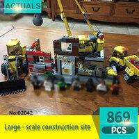 City Series 02042 869Pcs Large Scale Construction Site Model Building Blocks Set Bricks Toys For Children