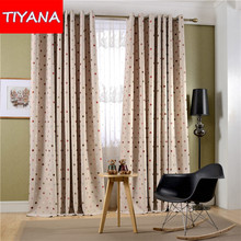 New Arrival Circle Pattern Curtains for Living Room Window Curtains Blinds Custom Made Cortinas For Baby