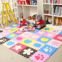 12 шт./компл. 30*30*1 см EVA пены детский коврик игровой коврик головоломка гостиная детская комната блокировочный пол ковер детский игровой коврик ползающий коврик