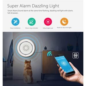 Image 4 - Sensor de alarma de sirena NEO Coolcam para casa inteligente, conexión con Sensor de temperatura y humedad, Tuya Smart Life, Alexa y IFTTT