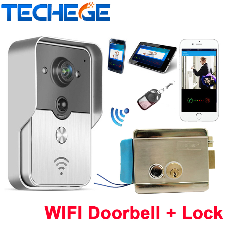 Support android and ios app wifi doorbell camera wireless for Door video camera