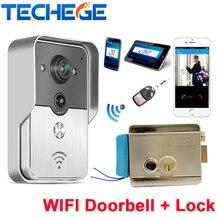 Поддержка Android и IOS APP Wi-Fi Дверь Камеры Беспроводные Видео-Домофон Телефон Управления Ip-телефон Двери Электронный замок