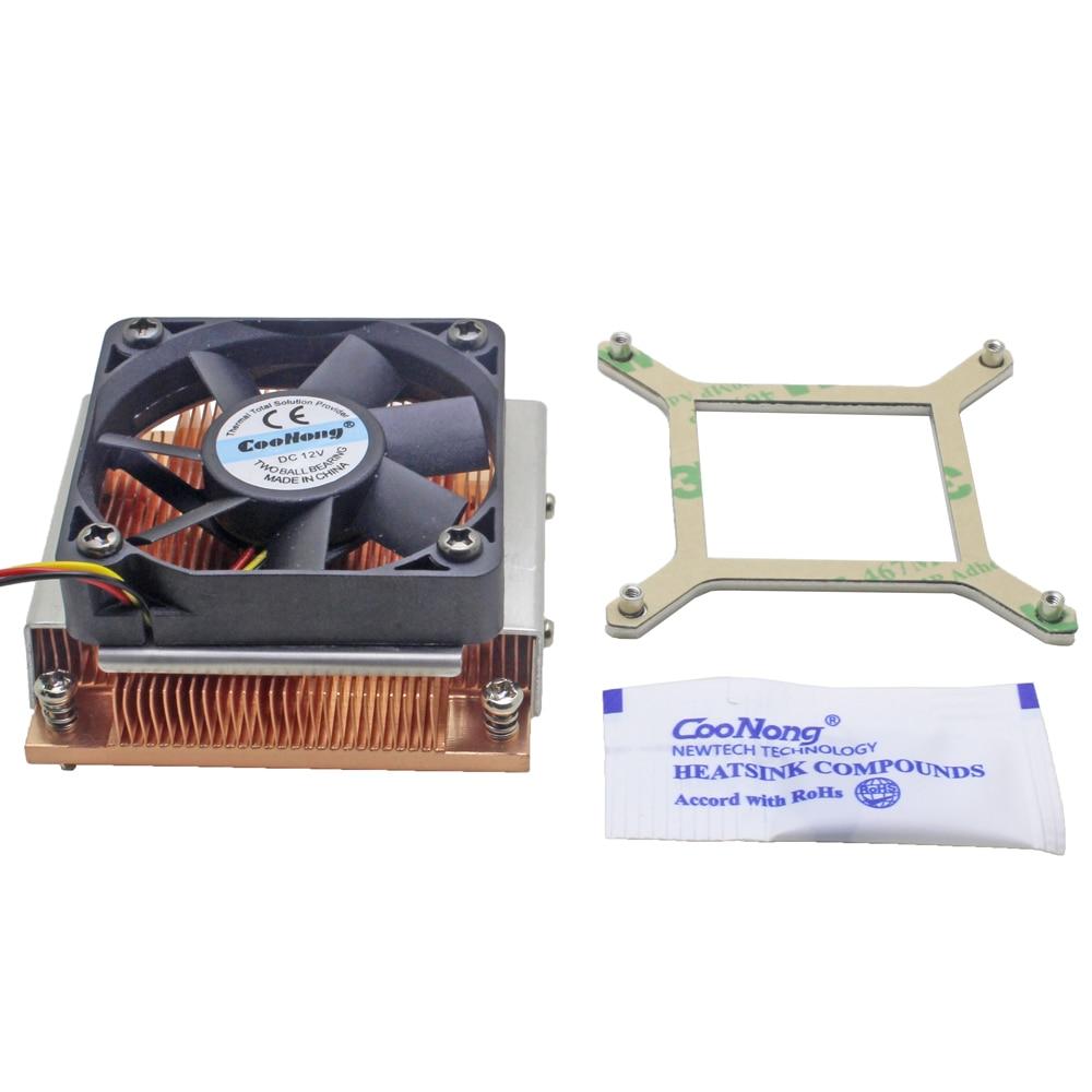 1U Server CPU Cooler Copper heatsink cooling fan for Intel Core PGA988 989 Computer Mobile Processor Active cooling(China)