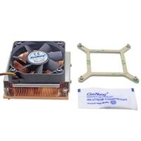 1U Server CPU Cooler Copper heatsink cooling fan for Intel Core PGA988 989 Computer Mobile Processor Active cooling