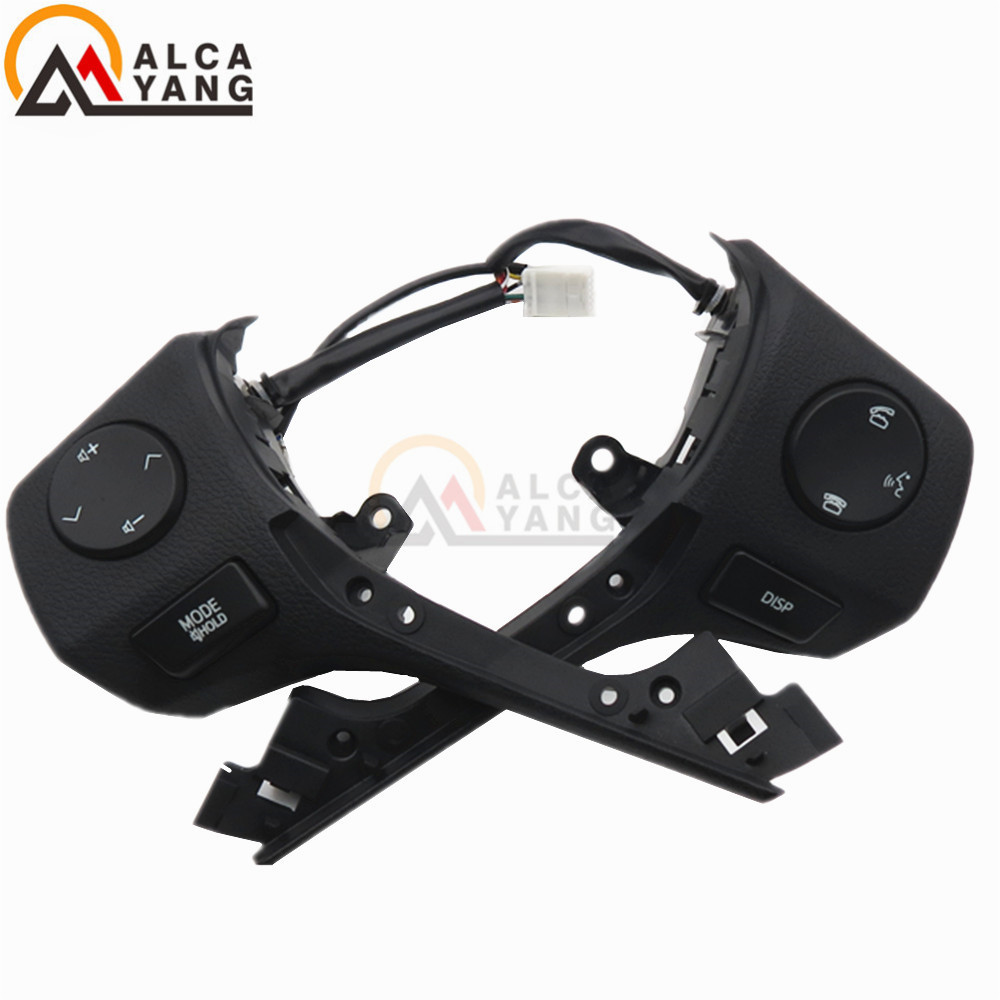 Malcayang BRAND NEW Steering Wheel CONTROL Switch Audio Bluetooth Control 84250-02560 For TOYOTA RAV4 Corolla 2014-2015 steering wheel switch audio bluetooth control 84250 02560 8425002560 for toyota rav4 corolla 2014 2015