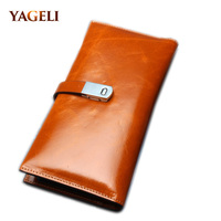 SOFT LONG Genuine Leather Women S Wallets Luxury Ladies Cowhide Wallet And Purse Female Carteira Feminina