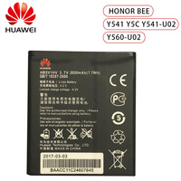 100% Оригинальный HB5V1HV HB5V1 2020mAh аккумулятор для Huawei Honor Bee Y541 Y5C Y541-U02 y560-U02 4,5 дюймов батареи
