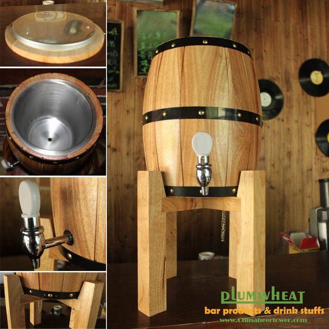 3 litres en bois distributeur de bière, chêne tonneau de vin, bar de