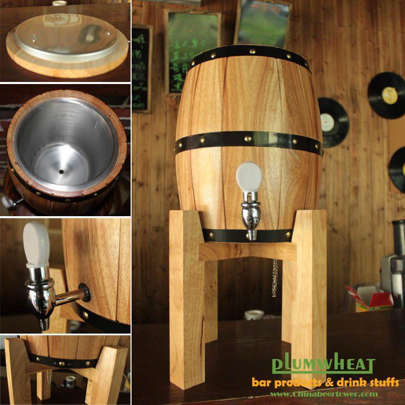 3 litros de cerveja de madeira dispensador barril de for Barriles de madera bar