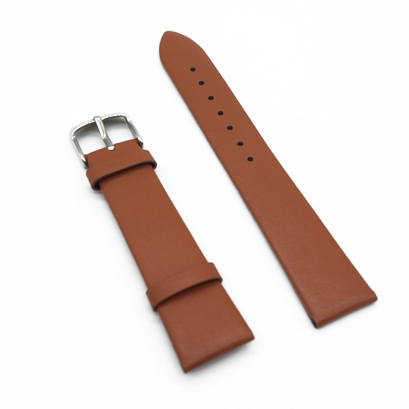 Ollivan Men & Women 12mm 14mm 16mm 18mm Smooth Grain Leather Band Wrist Strap For Xiaomi Huami Amazfit & Other Watch