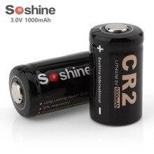 Bateria de Lítio Recarregável para Led Soshine 2 Pçs e set 3 V 1000 Mah Cr2 Lifepo4 Não-bateria Lanternas Faróis