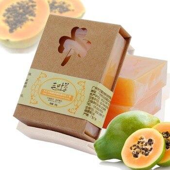 ZLROWR Natural Organic Herbal Green Papaya Whitening Lightening Skin Handmade Soap