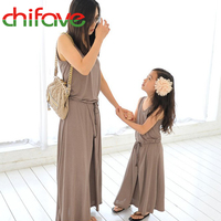 2016 New Summer Mom And Daughter Dress Matching Mother And Daughter Family Clothes Girls And Mom