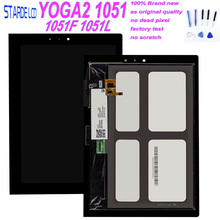 10.1 Inch For Lenovo Yoga Tablet 2 1051 1051F 1051L Touch Screen Digitizer Glass LCD Display Assembly Replacement Parts +Tools