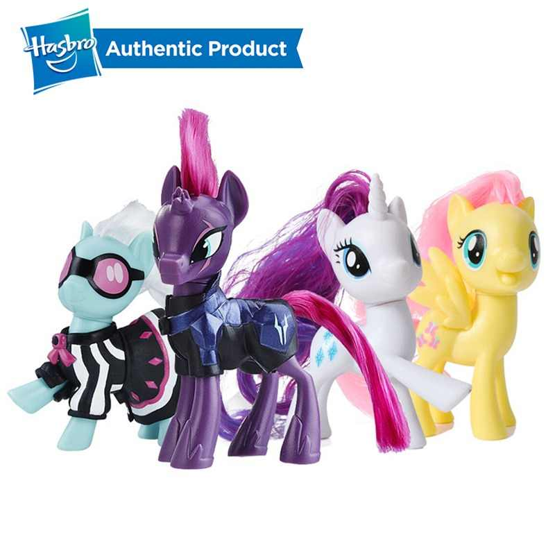 Hasbro My Little Pony Friends 3-Polegada Rainbow Dash Pinkie Pie Fluttershy Raridade Lyra Heartstring Action Figure Toy Collectible