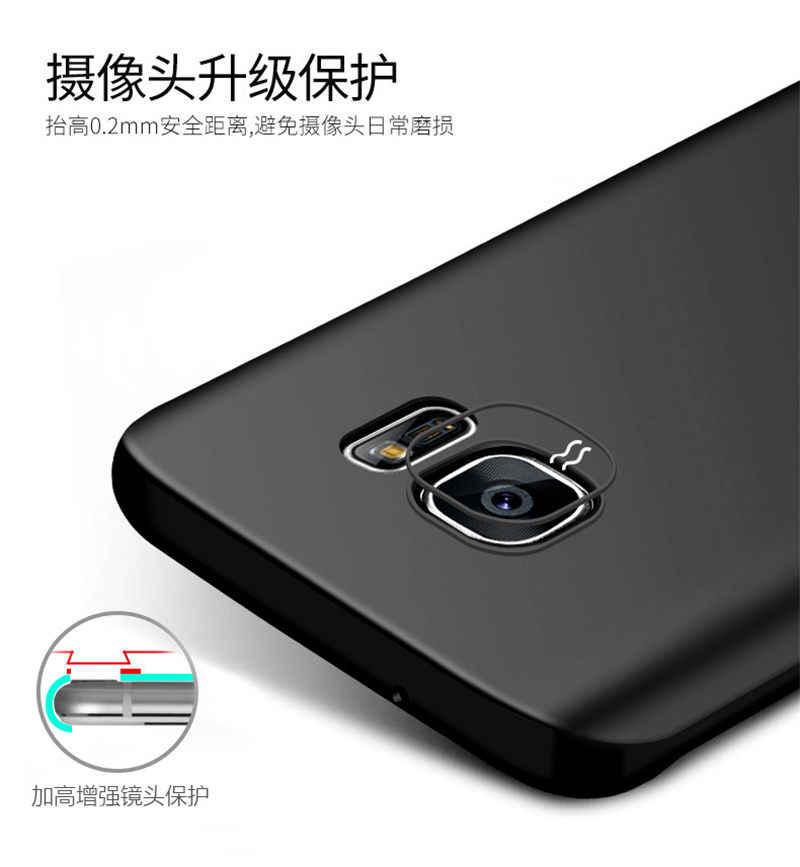 Black Color TPU Silicone Rubber Matte Case For Samsung Galaxy S8 Plus case S6 S7 Edge A3 A5 A7 2017 2016 Grand Prime S5 S4 S3