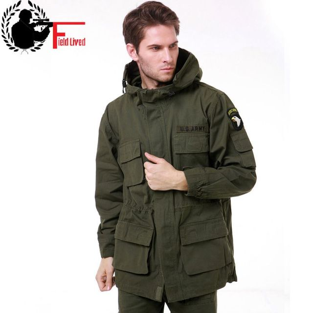 10c33f679 US $44.2 32% OFF|Men Military Style Tactical Jackets for Men Camouflage  Pilot Coat US Army 101 Air Force Bomber Jacket Coat Male Army Green  Black-in ...