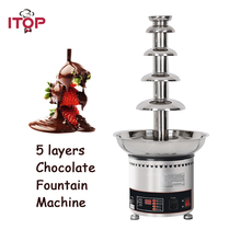 ITOP 5 Tiers Stainless Party Hotel Commercial 27 Chocolate Fountain 4kgs 110V/220V/240V