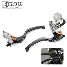BJMOTO Universal 19mm 7/8 22mm Motorcycle Front Brake Master Cylinder Clutch Lever Cable Motorbike Hydraulic Pump Brakes Levers 1 inch 25mm left right universal motorcycle brake master motorbike cylinder hydraulic pump clutch lever