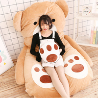 Fancytrader Lovely Cartoon Bears Beanbag Giant Soft Plush Stuffed Bed Brown Bear Tatami Sofa Mat 180cm x120cm Kids Gifts