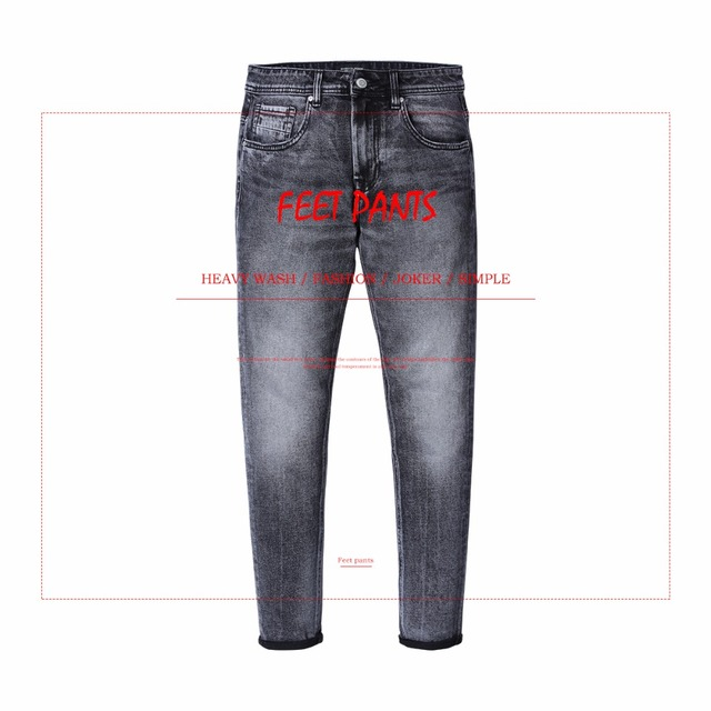 SIMWOOD New Arrive 2018 Autumn Jeans Men Fashion Vintage Slim Fit Casual Brand Denim Trousers Plus Size Free Shipping 180315
