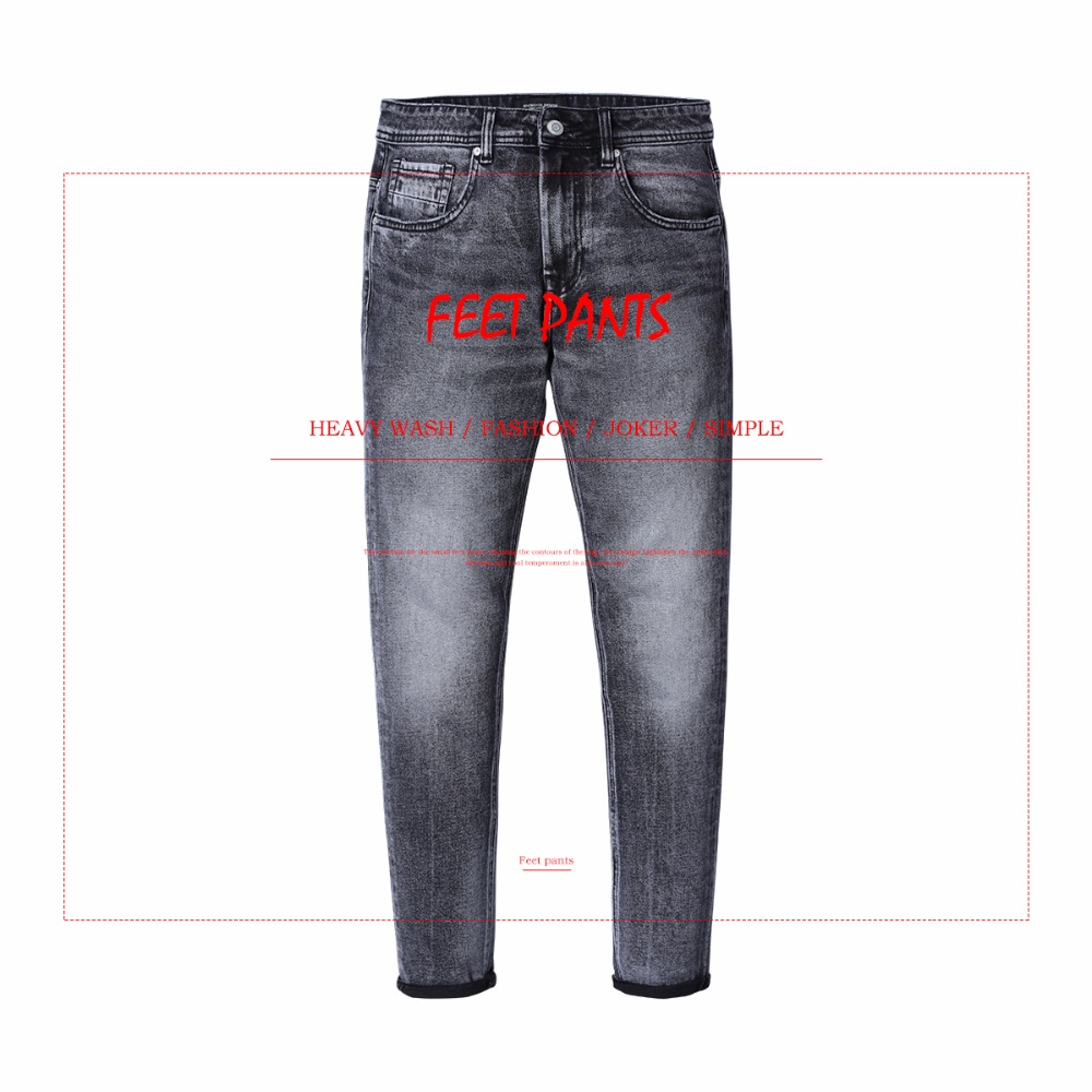 Image 2 - SIMWOOD New Arrive 2019 autumn Jeans Men Fashion Vintage Slim Fit Casual Brand Denim Trousers Plus Size Free Shipping 180315-in Jeans from Men's Clothing
