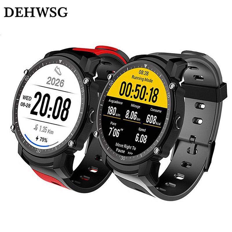 DEHWSG GPS Smart watch men HS08 IP68 Waterproof Multi-sport mode Heart Rate Monitor with barometer Stopwatch Compass wristwatch