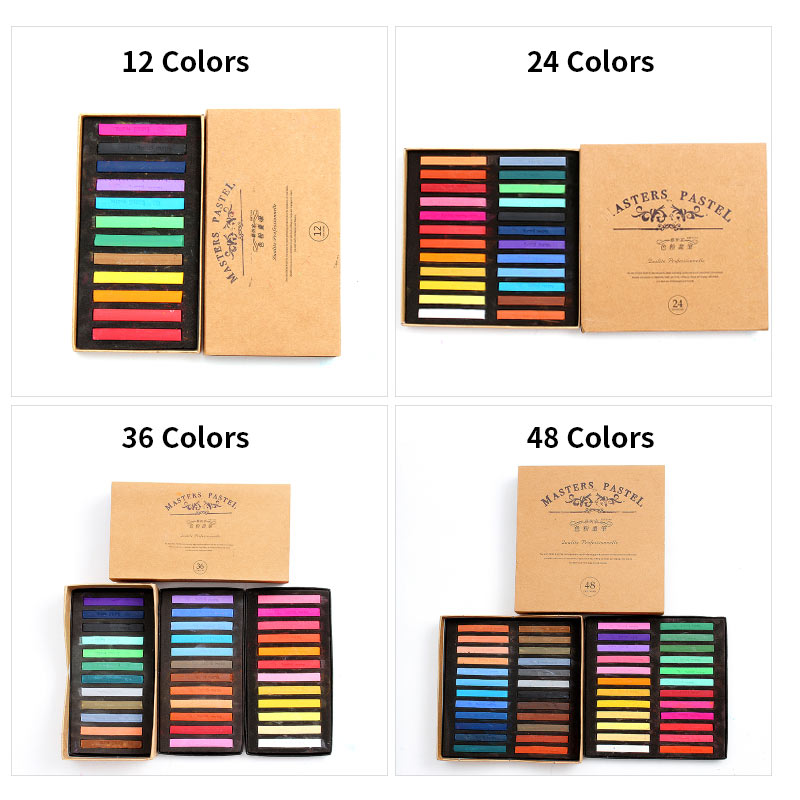 Купить с кэшбэком Marie's Painting Crayons Soft Pastel 12/24/36/48 Colors/Set Art Drawing Set Chalk Color Crayon Brush Stationery for Students