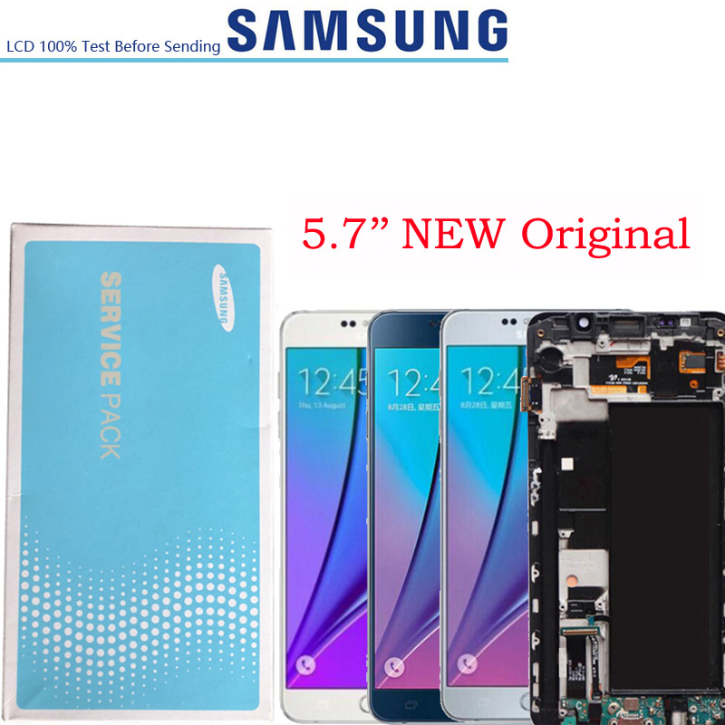 5.7'' NEW Original SUPER AMOLED Display for SAMSUNG Galaxy Note 5 note5 N920 N920F N920A N920C N920V LCD Screen Digitizer Touch