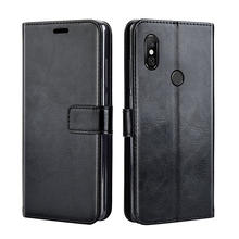 Luxury Leather case For on Xiaomi Redmi Note 6 Pro Note6 Pro Case Flip back cover case For on Xiomi Redmi Note 5 Pro Note5 pro(China)