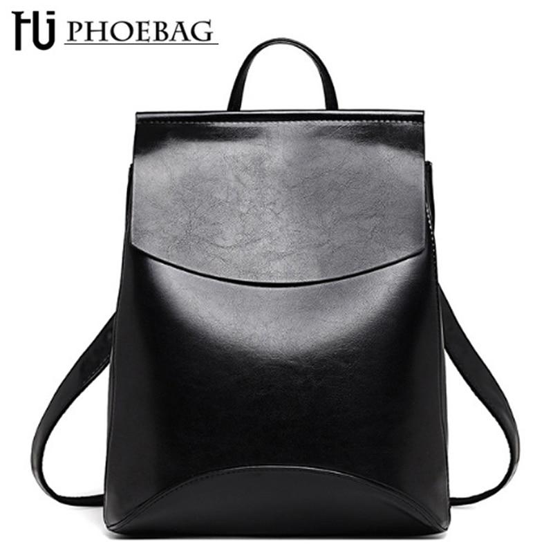 HJPHOEBAG New high quality Women Backpacks Fashion Teenager Girls School bag PU Mochila Zipper Students Shoulders Innrech Market.com