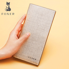 FOXER Women Cow Leather Long Wallet Fashion & Classic Cellphone Bag Wallets for New Designer Ladies Purse