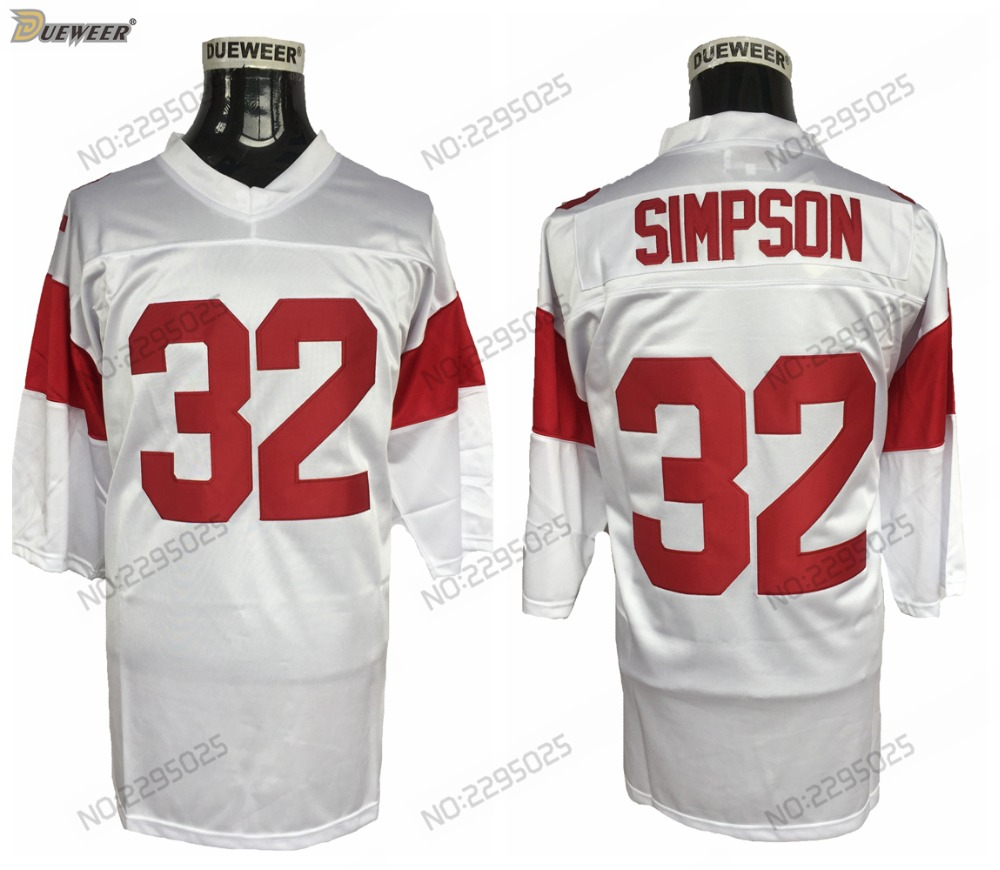 b2f88c520 ... czech dueweer mens usc trojans o.j. simpson college football jersey  vintage road white 32 oj simpson
