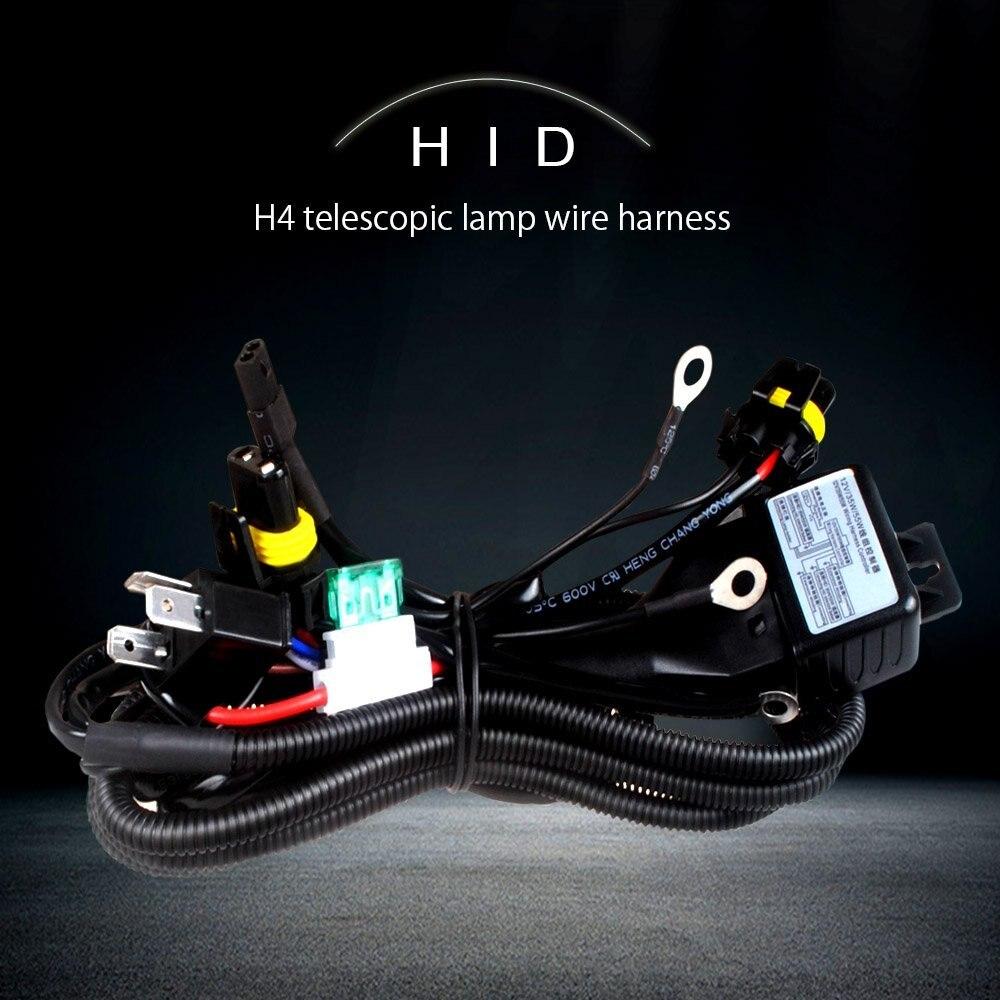 SDENSHI Hid Hi Lo Relais 12V 35W 55W Contr/ôleur De Faisceau De C/âbles Kit Bi-x/énon H13 9008