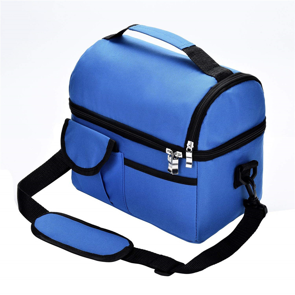 Lunch Bag Reusable Insulated Thermal Bag Women Men Multifunctional 8L Cooler And Warm Keeping Lunch Box Leakproof WaterproofF705