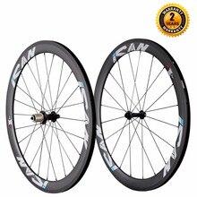 ICAN 50mm 700C Carbon Wheelset Road Bike Clincher Rim Shimao or Sram 10 11 Speed 1510g