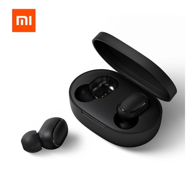 Original Xiaomi Redmi Airdots TWS Bluetooth Earphone Stereo Bass Bluetooth 5.0 Headphones With Mic Handsfree Earbuds AI Control