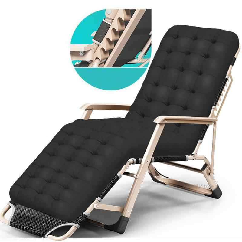 Heavy Duty พับเก้าอี้แบบพกพาสวนเฟอร์นิเจอร์อเนกประสงค์ Chaise Lounge กรอบโลหะแบบเตียงเดี่ยว/เตียง Cot สำหรับ Camping