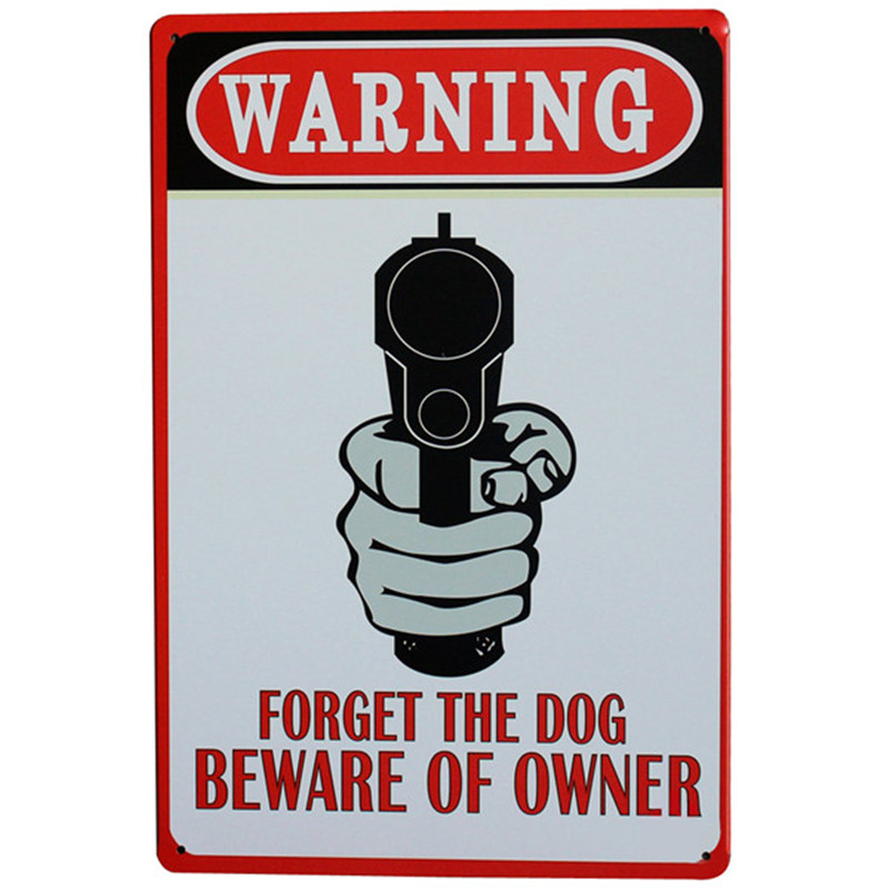 Предупреждение забудьте собака Остерегайтесь Владелец металла девиз знак Ретро Олово Декор пластина для бара дом настенная живопись мм 20x30...