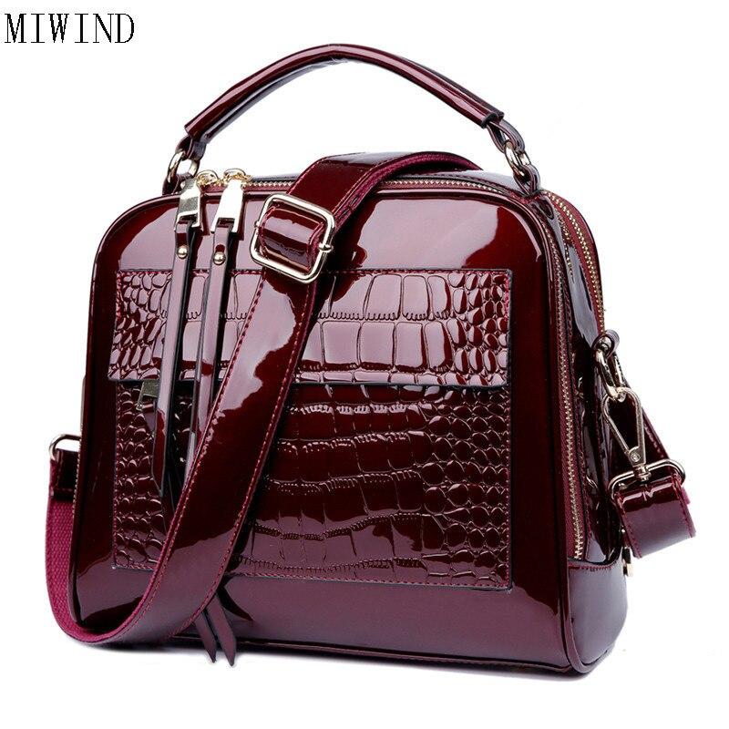 MIWIND Shell bag Women Famous Design Handbag famous brands Simple Handbags Leather Bag Split Leather Woman Shell Bags TJM671 miwind 100