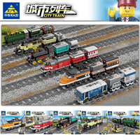 2019 New KAZI legoing City Train Technic Electric with Rail Building Blocks Bricks Technician Tech Creator MOC Toys For Children