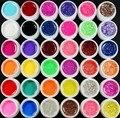 Новый 36 Цвет УФ-ГЕЛЬ БЛЕСТЯЩИЙ Блеск Прозрачный Чистого Твердого Builder Nail ART tools kit