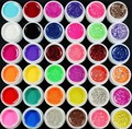 New 36 Color UV GEL GLITTERY Glitter Transparent Pure Solid Builder Nail ART tools kit
