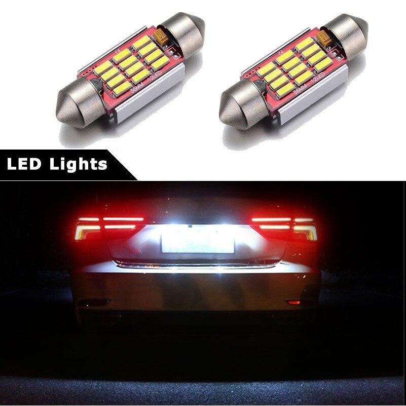 Fits VW Polo 6N1 55 1.4 White 12-SMD LED COB 12v Number Plate Light Bulb
