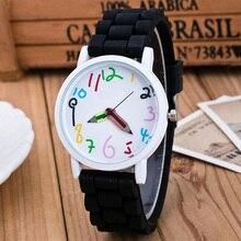 Luxfacigoo мальчик девочка Силиконовые часы детские узкие указатель студент часы Кварцевые наручные часы для пары Для женщин Для мужчин TT @ 88