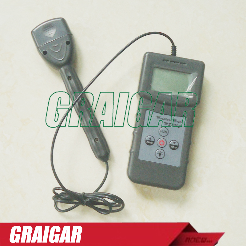 Portable cotton bale moisture meter,cotton lint moisture meter,with 150mm needle pintype MS7100C mc7812 induction tobacco moisture meter cotton paper building soil fibre materials moisture meter