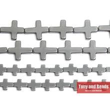 Pietra naturale senza croce lunga magnetica perline di ematite nera 8x10 14x17MM 15