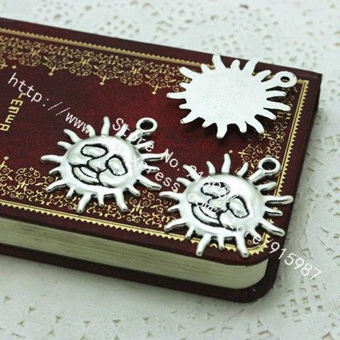 Sweet Bell 10 unids 34 38mm plata antigua DIY joyería Accesorios vendimia  Amuletos Colgantes aleación Sol d0156 127d276493e5